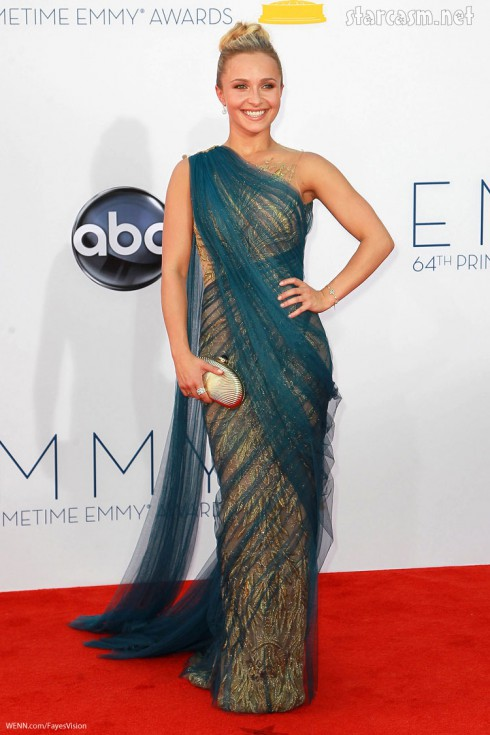 Hayden Panettiere Marchesa 2012 Emmys dress gown