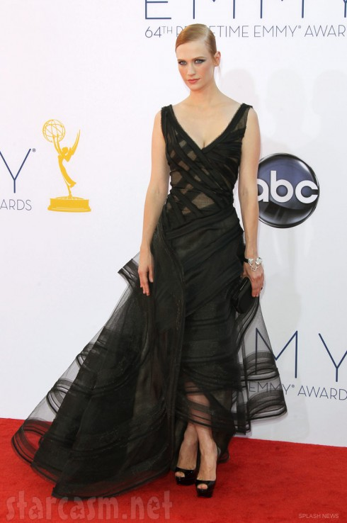 January Jones 2012 64th Primetime Emmys red carpet