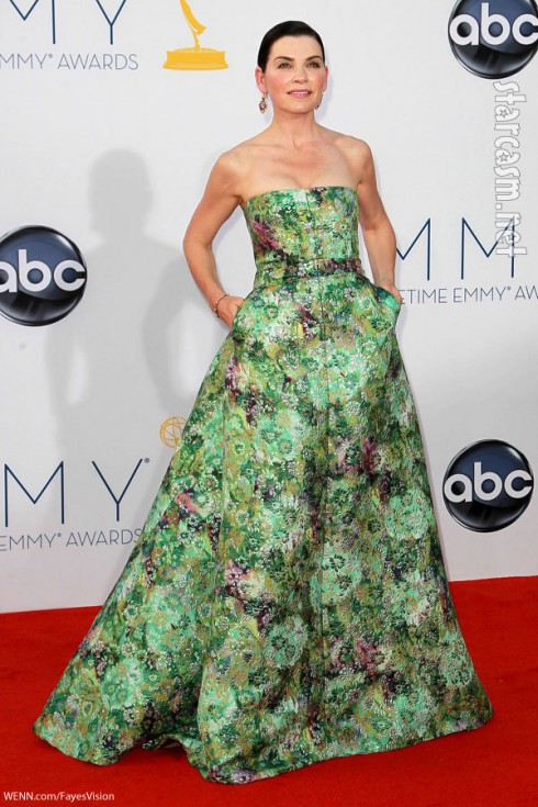 Juliana Margulies Emmy Awards green carpet dress