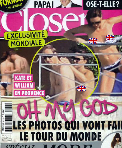 Kate Middleton topless Closer cover
