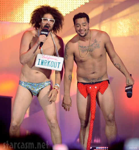 LMFAO performing concert live