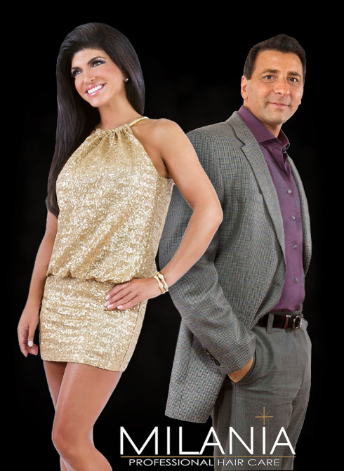 Teresa Giudice and Jerel James for Milania Hair Care products
