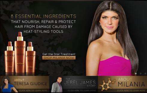 Teresa Giudice launches line of hair care products called Milania
