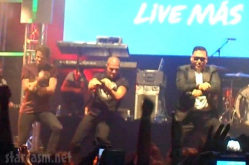 The Wanted Perform Gangnam Styl with Psy at the Avalon in Los Angeles prior to the VMAs