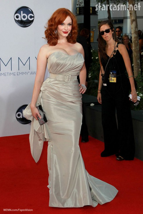 christina hendricks christian sirano dress 2012 emmys