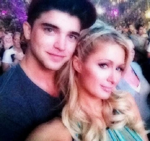 Paris Hilton and River Viiperi attend Justin Bieber concert before River's late night arrest