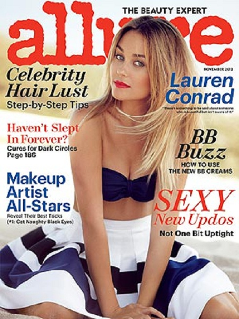 'The Hills' star Lauren Conrad on the cover of Allure Magazine