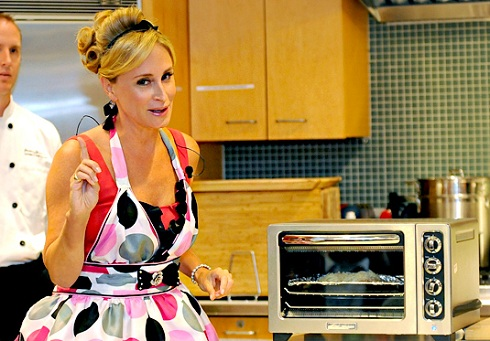 'Real Housewives of New York' star Sonja Morgan poses with her toaster oven