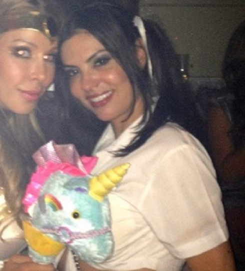 Adriana de Moura of 'Real Housewives of Miami' as a schoolgirl for Halloween