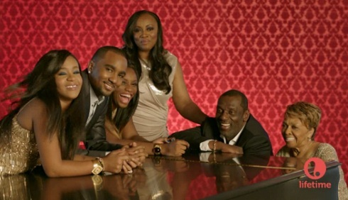 'The Houstons: On Our Own' cast photo featuring Bobbi Kristina and Nick Gordon