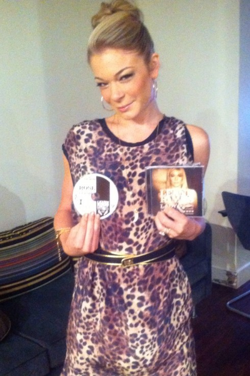 LeAnn Rimes poses with new album