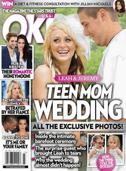 'Teen Mom 2' Leah Messer and Jeremy Calvert wedding photo
