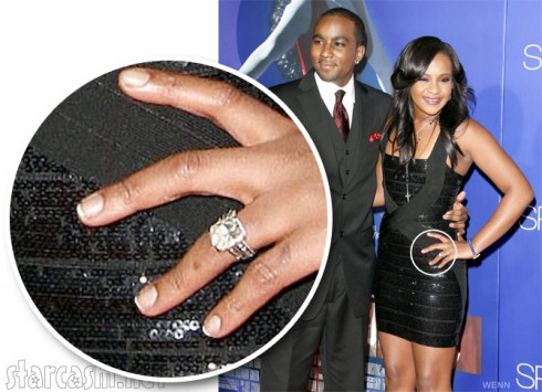 Photo of Bobbi Kristina's engagement ring