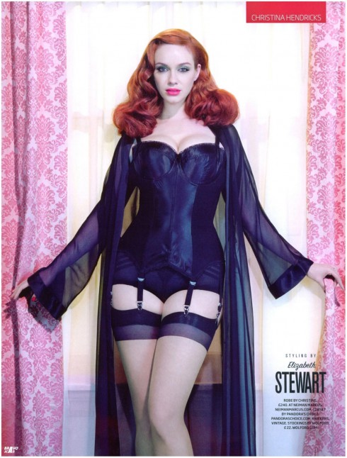 Sexy Christina Hendricks lingerie photo