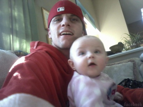Jenelle Evans' boyfriend Courtland Rogers with his daughter Jordan