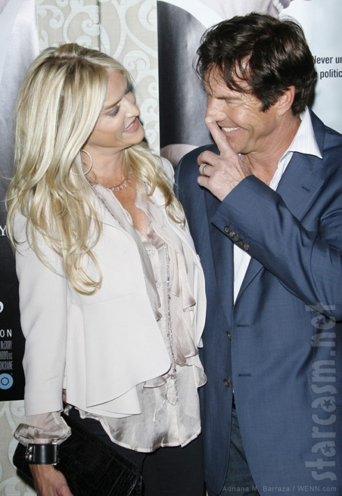 Kimberly Buffington-Quaid and Dennis Quaid joking around