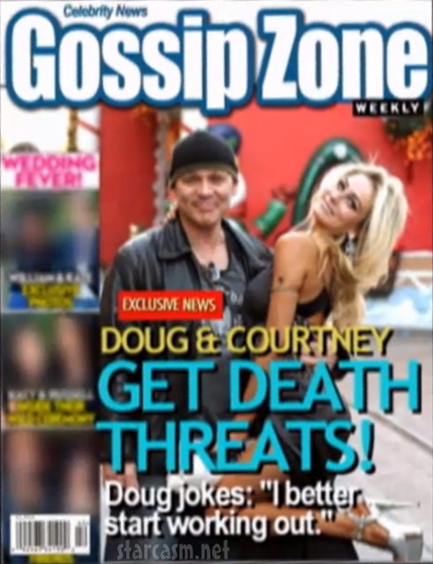 Doug Hutchison and Courtney Stodden Gossip Zone tabloid magazine cover