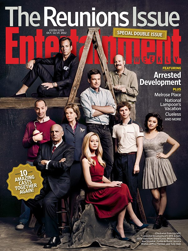 "Arrested Development Love Each Other: All Four Entertainment Weekly ""Reunions Issue"" Covers"