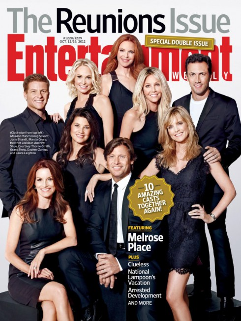 Entertainment Weekly Reunions Issue cover with Melrose Place cast