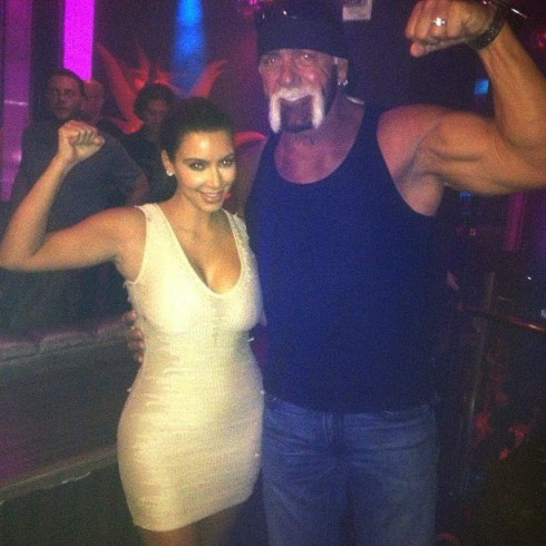 Kim Kardashian and Hulk Hogan celebrate their sex tapes
