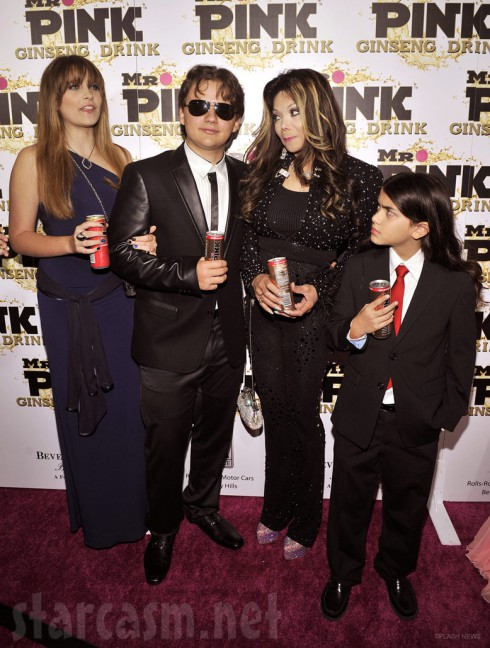 Michael Jackson's children together Paris Jackson Prince Jackson Blanket Jackson