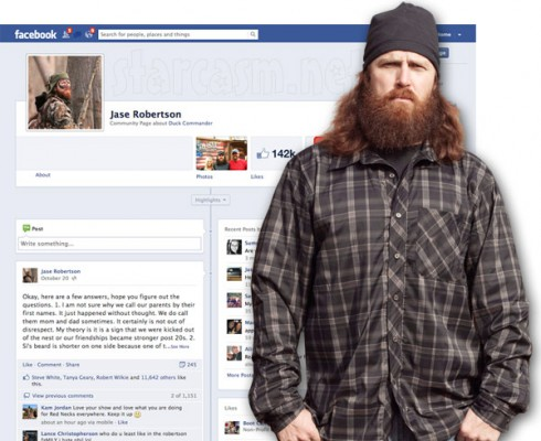 Duck Dynasty Jase Robertson Facebook