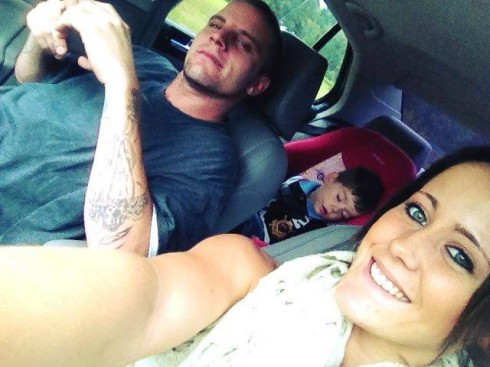 Jenelle Edwards and son Jace out with her new boyfriend Courtland Rogers
