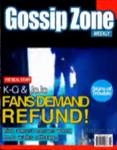 K-Ci and JoJo Gossip Zone magazine cover from Couples Therapy