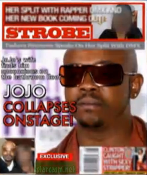 The Globe magazine spoof Strobe cover with JoJo of K-Ci and JoJo