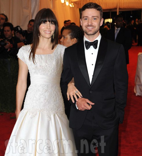 Jessica Biel and Justin Timberlake wedding photo created in Photoshop