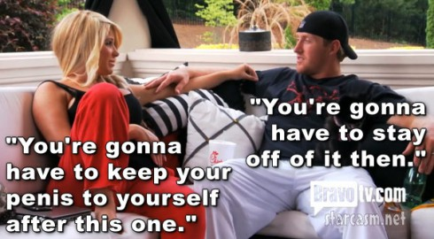 Kim Zolciak quote telling Kroy Bierrman to keep his penis to his self