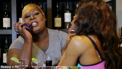 Funny or Die video of drag queens as NeNe Leakes and Sheree Whitfield in I'm very rich bitch scene