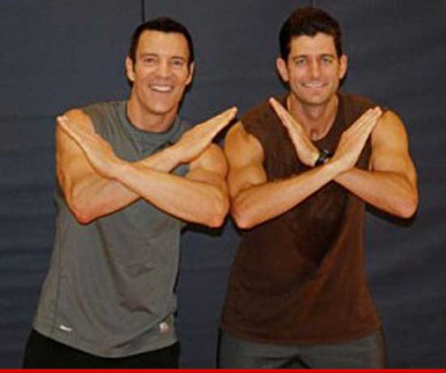Paul Ryan and Tony Horton P90x Vice President Mitt Romney
