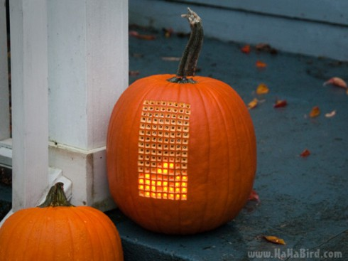Pumpktris the playable Tetris jack-o-lantern