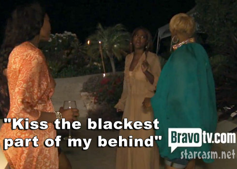 Kenya Moore tells NeNe Leakes to Kiss the blackest part of my behind