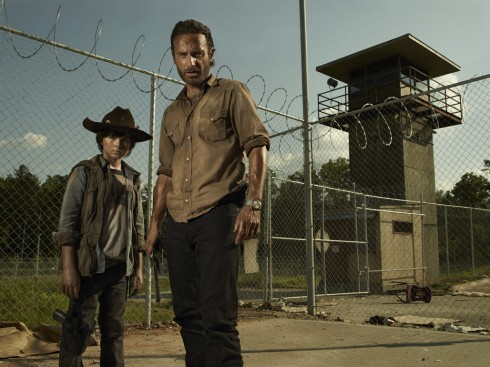 The Walking Dead Season 3 Rick Grimes and son Carl Grimes