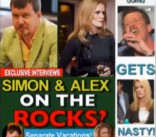 Alex and Simon fake tabloid magazine cover from Couples Therapy