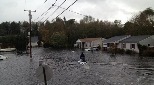 Roger Mathews' New Jersey home damaged in Hurricane Sandy
