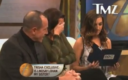 Michael Lohan and daughter Ashley Horn with Kristi Horn on the Trisha Goddard Show
