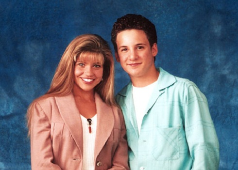 Danielle Fishel and Ben Savage as Corey and Topanga on 'Boy Meets World'