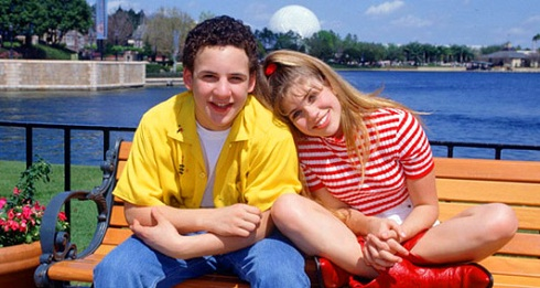 Ben Savage and Danielle Fishel as 'Boy Meets World' stars Corey and Topanga