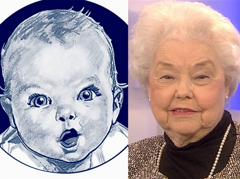 Gerber baby Ann Turner Cook then and now