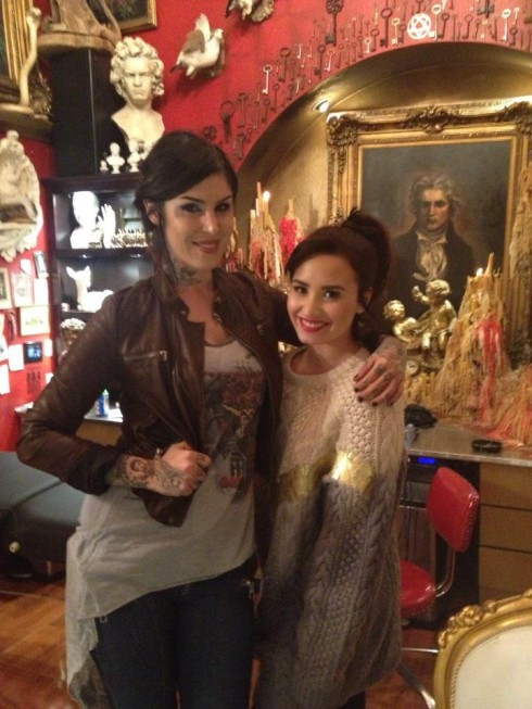 Kat Von D and Demi Lovato together