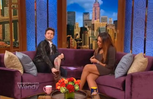 Twilight's Jackson Rathbone shows Wendy Williams his huge Heinz catsup tattoo
