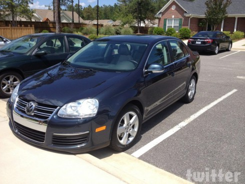 Jenelle Evans new VW Jetta in May 2012