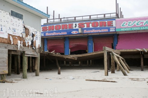 Jersey Shore t-shirt shop damaged by Hurricane Sandy