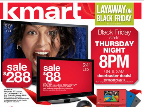 "KMart 2012 Black Friday ad with 50"" flatscreen television possibly bought by Anthony Perry"