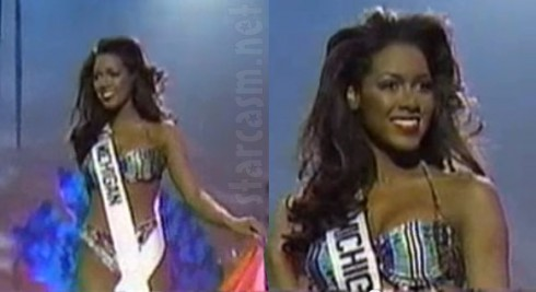 Kenya Moore in the swimsuit competition during the Miss USA pageant in 1993