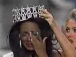 Crying Kenya Summer Moore crowned Miss USA 1993