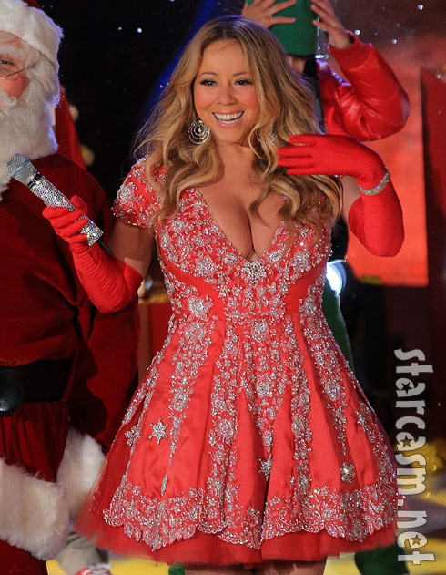 PHOTOS Mariah Carey's revealing ensembles help light up Christmas ...